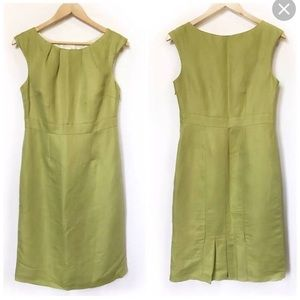 Beautiful Boden Green Linen   Sleeveless Dress